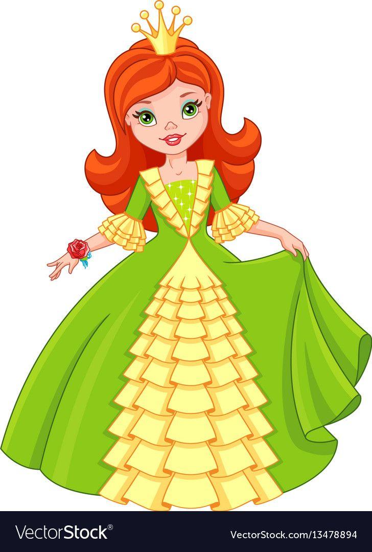 Little Princess Royalty Free Vector Image Vectorstock Desenhos