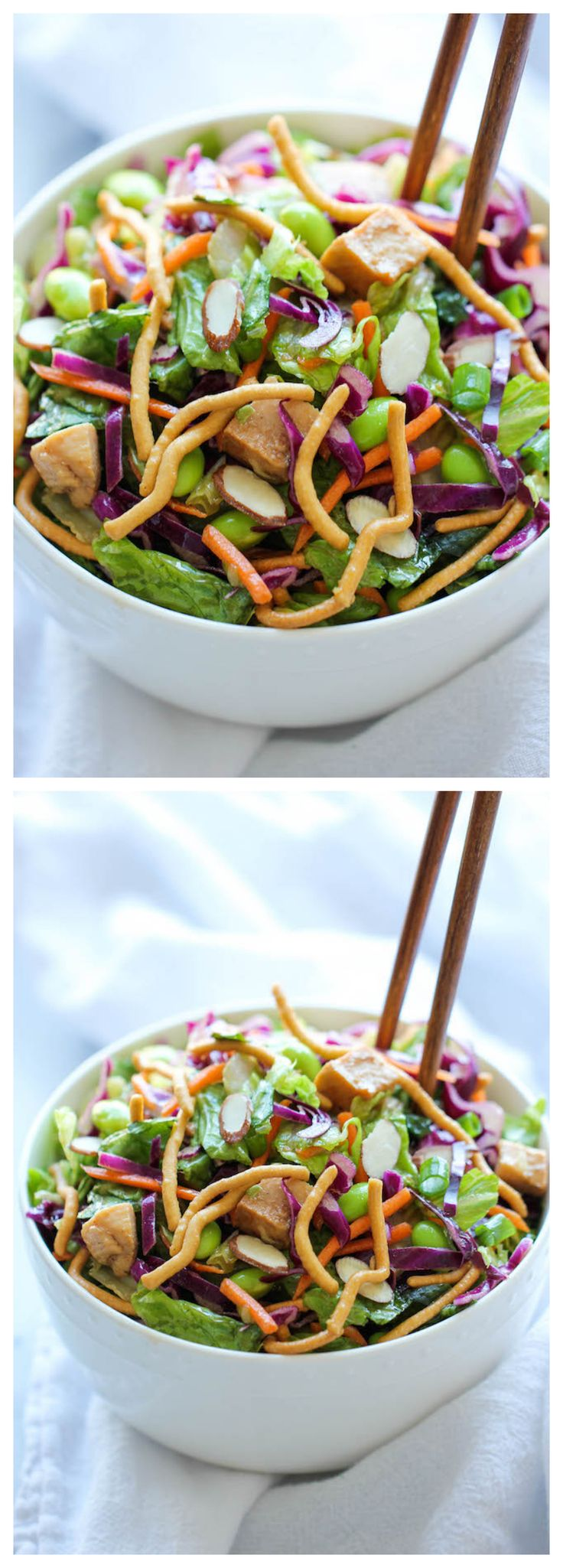 Chinese Chicken Salad - Restaurant quality that you can easily make right at home, except it's healthier and a million times tastier!  I would change out the sugar for coconut sugar and use tamari instead of soy sauce.  Will make it even healthier than posted