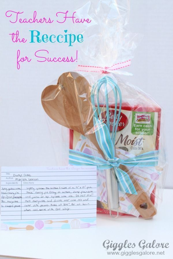 Teachers Have the Recipe for Success – Teacher Appreciation Gift #teacherappreciationgifts
