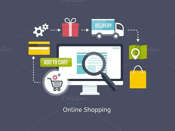 Online Shopping process infographic. Business Infographic. $6.00