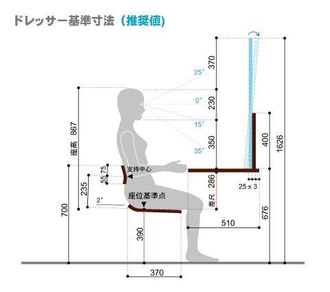 べんきょう机☆ 基本寸法(改)