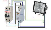 Esquemas eléctricos: CONEXION DE FOCOS CON CONTACTOR BIPOLAR