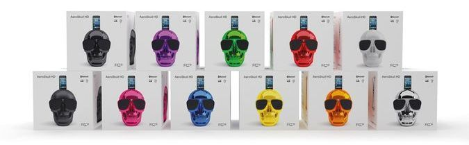 Jean Michel Jarre AuroSkull HD Vibrant Colors - Black, Pink, Lila, Green, Red, White, Matte Black, Blue, Yellow, Orange, Silver http://coolpile.com/gadgets-magazine/aeroskull-hd-iphone-bluetooth-speaker/ via coolpile.com  #Bass #Bluetooth #Design #iPhone #iPhone Dock #Music #Remote Control #Speakers #Wireless #coolpile