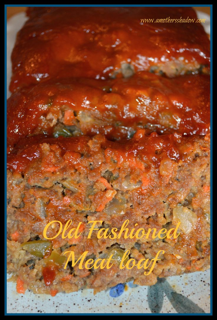 Next1 of 3Click HERE to printDo you have a hankering for GREATold fashioned meatloaf? Well, here you have it! This meatloaf is moist, tender, meaty, lean, full of flavor and just plain comfort food. The topping is a huge bonus for a perfect finish. A bit of surprise of hhhmmm, what's that in there, with...