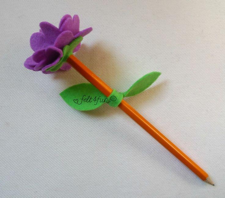 Bomboniere : bomboniera matita con fiore feltro