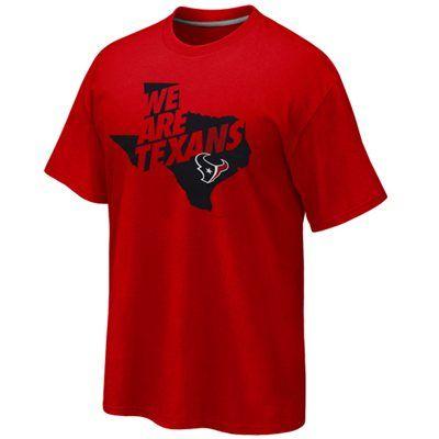 Nike houston texans state outline t shirt red nike for Funny kansas jayhawks t shirts