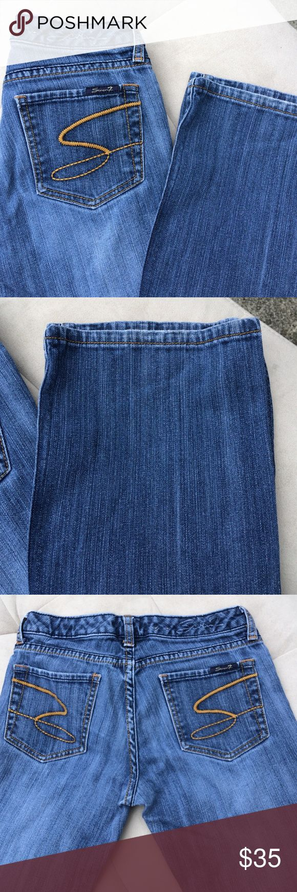 🚛MOVING SALE🚛 MAKE OFFER🚛 seven jeans Great condition size 27 flare leg Seven7 Jeans Flare & Wide Leg