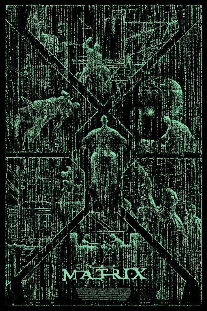 'The Matrix' by Kilian Eng (Variant Edition GID Layer)                                                                                                                                                                                 Mais