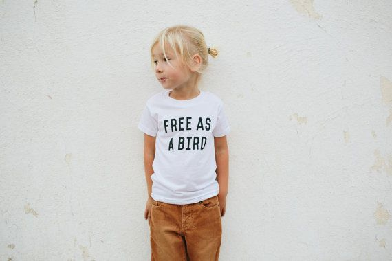 Free As A Bird Children's tshirt by The Bee & by TheBeeandTheFox