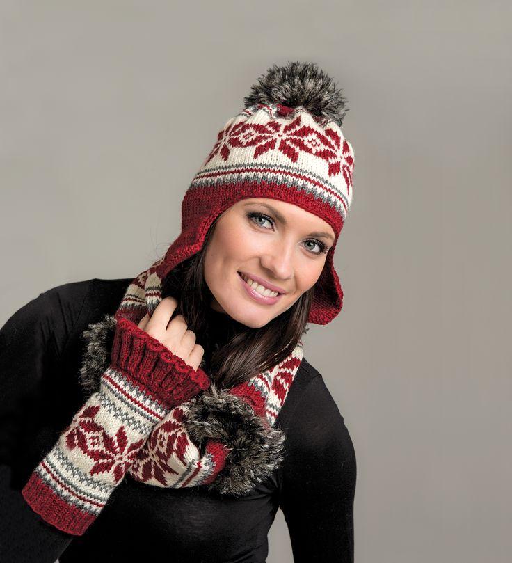 Beskrivning Mössa, halsduk och pulsvärmare  http://www.knittingroom.se/butik/default.asp?pf_id=SE-111903