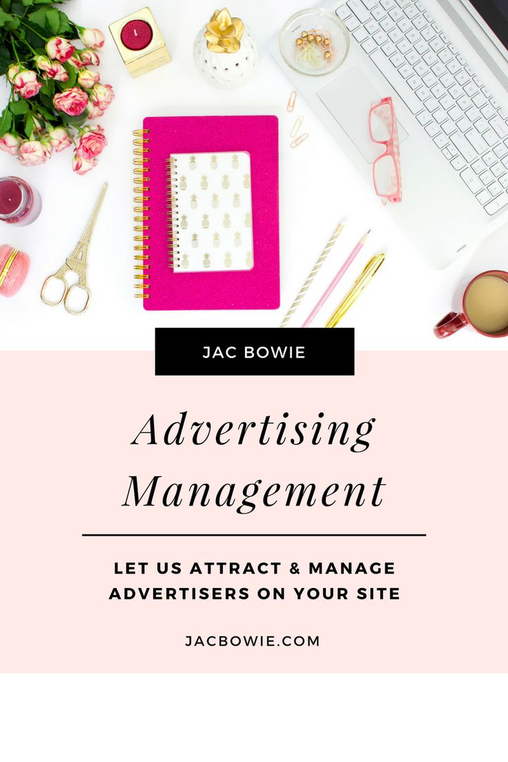 Advertising Management  Keen to start making money from digital advertising on your site? Jac Bowie has extensive experience managing digital advertising, having done so for 15 radio stations with her former role at a major Australian radio network.  Let us manage your site advertising, including:  Advertise Here page created with media kit and lead form Sales process handled from enquiry to conversion Client communication managed, with monthly performance reports sent to clients on CTR…
