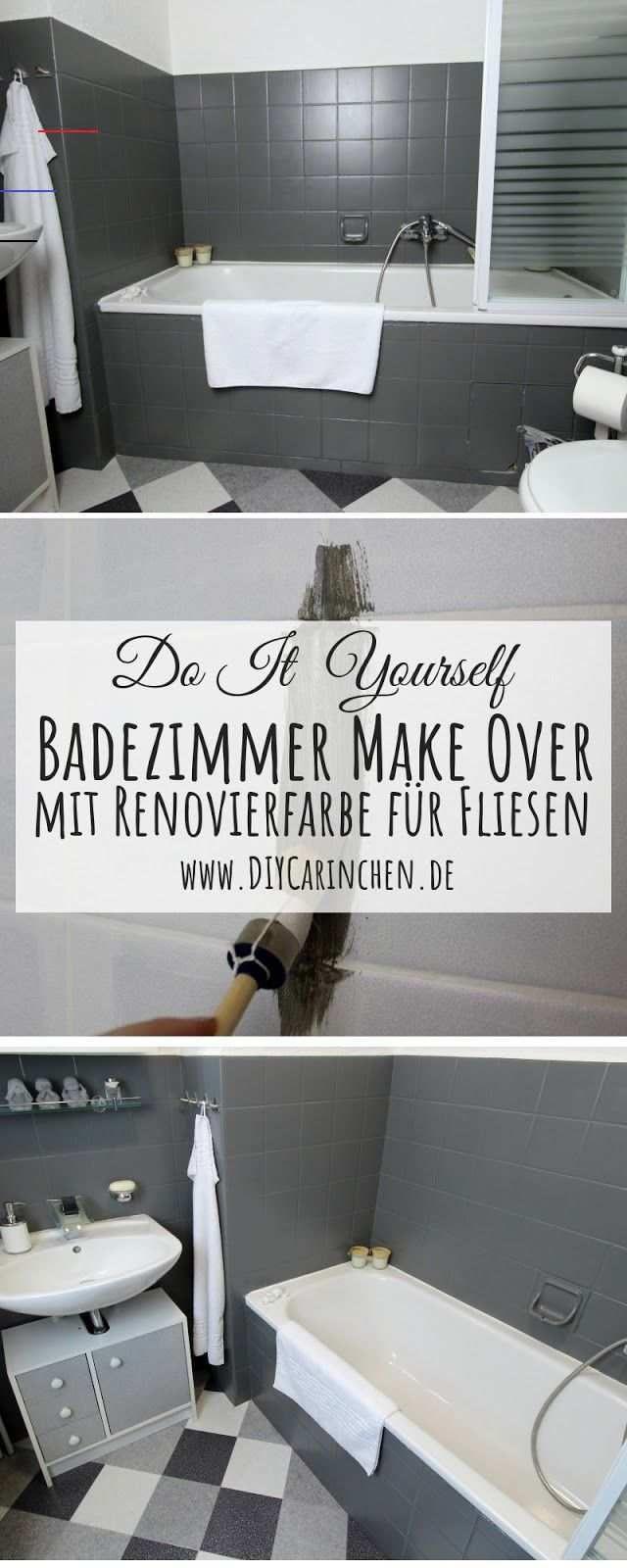 Diy Badezimmer Streichen Und Renovieren Mit Fliesenfarbe Anzeige Diy Diy Badezimmer Make Over In 2020 Bathroom Renovations Bathrooms Remodel Diy Bathroom Decor