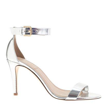 Mirror Metallic high-heel sandals. The J.Crew Wedding Event: 25% off gowns, bridesmaid dresses & bridal accessories. #jcrewwedding
