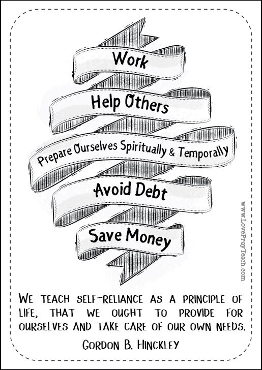 """Gordon B. Hinckley Chapter 13: """"Peace and Contentment through Temporal Self-Reliance"""" Relief Society Lesson Helps. Our Relief Society printable packs include high quality PDF printables for handouts, posters, notes pages, plus power point presentation, activity ideas, object lesson, and more!"""