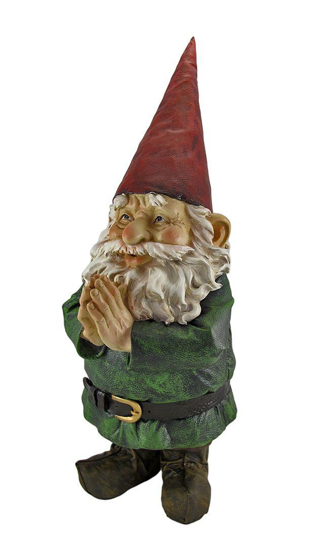 Garden Gnomes On Sale: 32 Inch Tall Garden Gnome Greeter Statue Figure