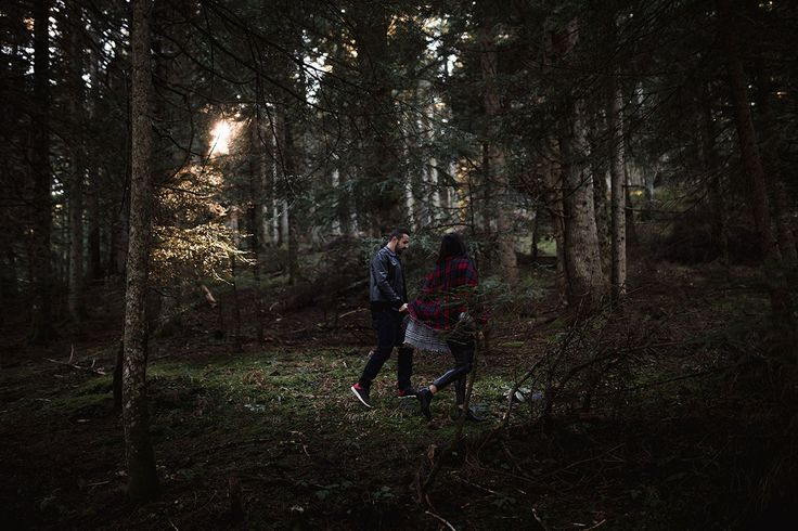 Winter engagement in the woods. Greece
