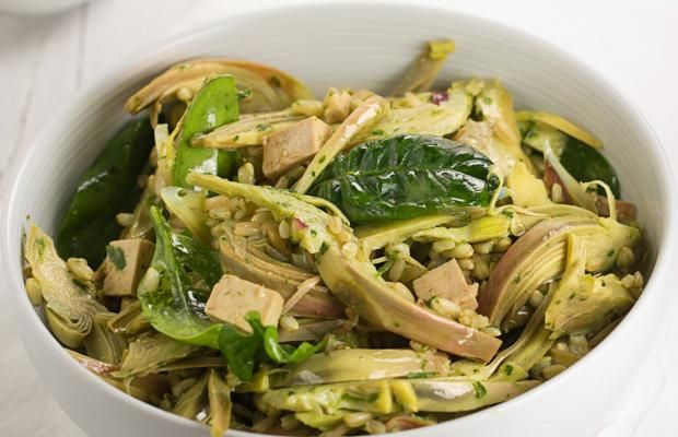 INSALATA TIEPIDA DI CARCIOFI E AVENA - Cucina Mancina - Le ricette mancine