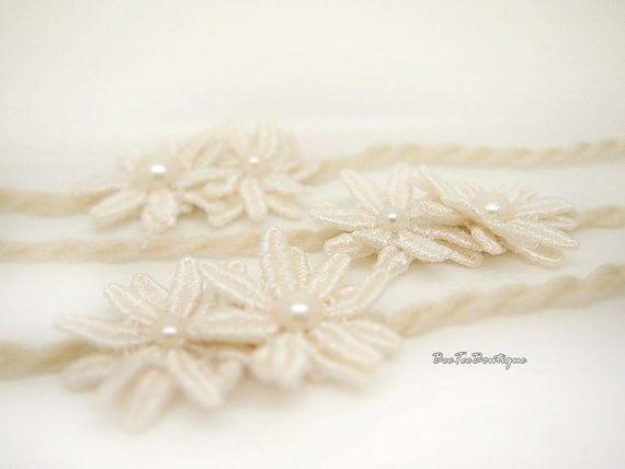 Avorio fiore Double - archetto - per neonato fotografia puntelli