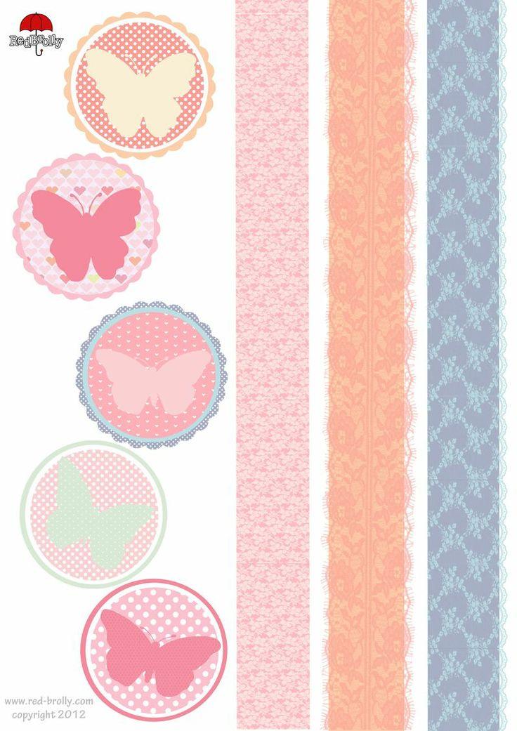 rubans et papillons donneront un petit air de printemps à vos créations...: Sheet Printables, Printables Butterflies, Papillons Donneront, Butterflies Sheet, Butterflies Printables, Printables Gifts, 24803508, Butterflies Gifts, Free Printables