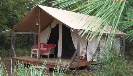 Platform Tents - Uncle Ducky's Paddler's Village