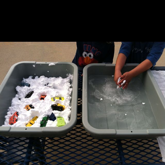 Shaving cream car wash-great sensory activity...