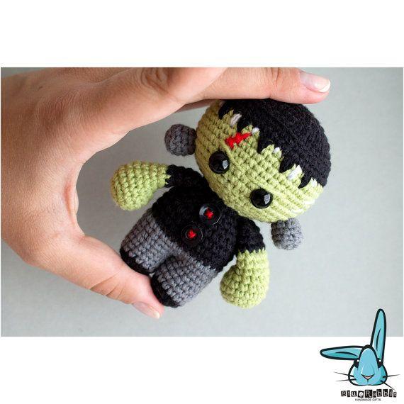 Frankenstein monster doll amigurumi crochet by BlueRabbitLV
