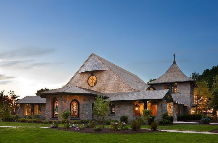 These Religious Architecture Award Winners Evoke The Sacred In Unconventional Ways:  Our Lady of Mercy Chapel, Salve Regina University, Newport, RI. #religiousarchitecture