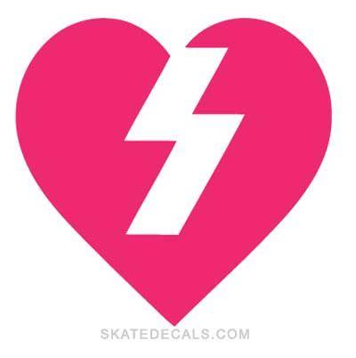 Cool Skateboard Logos | mystery skateboards heart logo stickers decals mystery heart logo ...
