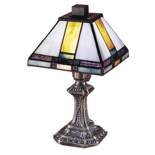 Dale tiffany tranquility mission accent lamp richly colored and hand rolled tiffany glass creates the pyramid shade on this dale tiffany tranquility