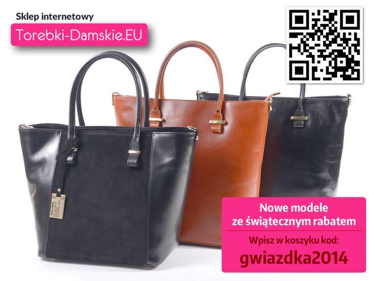 Teraz wspaniałe prezenty z gwiazdkowym rabatem. Wystarczy skorzystać z kodu. Zapraszamy do oglądania nowości z kolekcji. #torebki #fashion #handbags