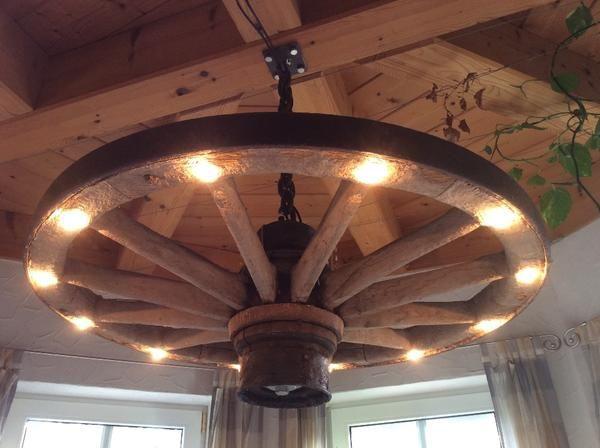 Wohnzimmer Lampen Rustikal Nett Kronleuchter Speichenrad