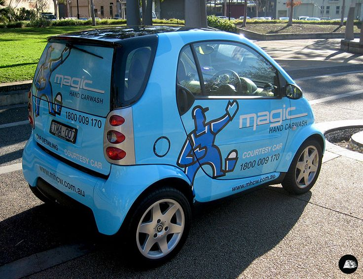 Courtesy Car, Smart Car, Vehicle Advertising, Smart Car Wrap