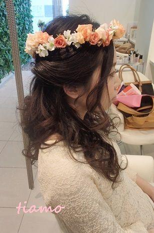 クラシカルなシニヨンから人気の花冠スタイルへチェンジ♪リハ編 |大人可愛いブライダルヘアメイク『tiamo』の結婚カタログ|Ameba (アメーバ)