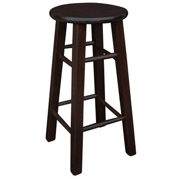 Mission Solid Painted Timber Bar Stool - Walnut