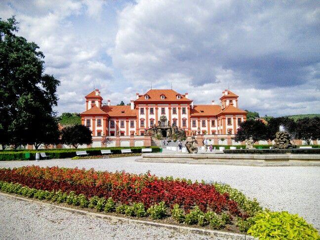 The beautiful Troja Palace, a calm retreat outside central Prague. www.nakedtourgudeprague.com