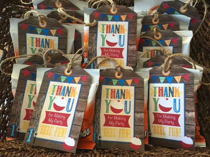 Fishing Themed Party Favors Gone Fishing Thank You Tags