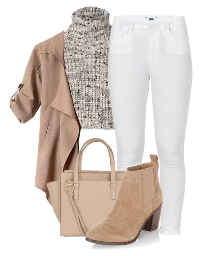Autumn Neutrals by aquabanana on Polyvore featuring polyvore, fashion, style, Brunello Cucinelli, Paige Denim, New Look, Salvatore Ferragamo and clothing