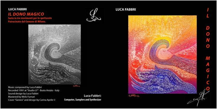 "Luca Fabbri ""IL DONO MAGICO""  / Music composed by Luca Fabbri / Recorded 1991 / Cover ""Genesi"" and Design by Carina Aprile"