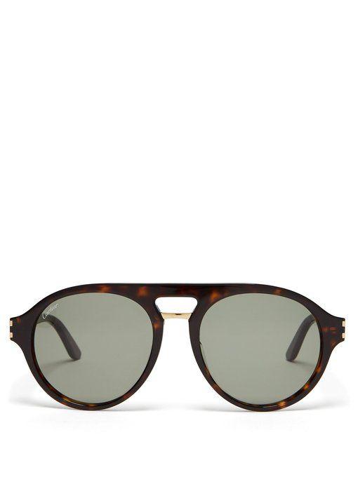 70e61d6c5ddd CARTIER D-frame acetate sunglasses.  cartier
