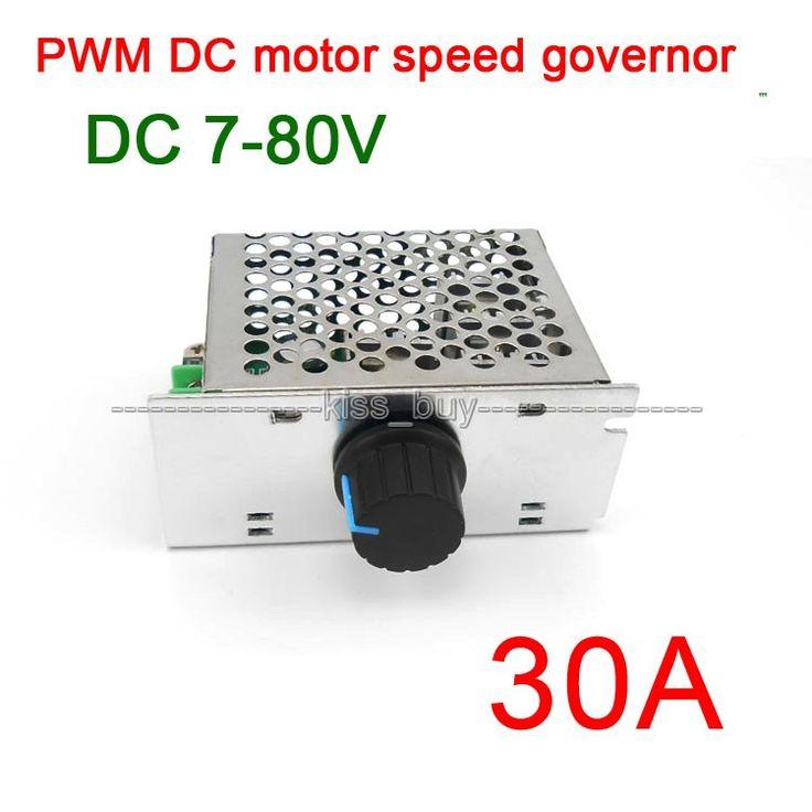 7-80V 30A DC MOTOR SPEED governor CONTROL PWM HHO RC CONTROLLER 24V 12V 48v 72V  cooling fan /dimmer heater thermostat