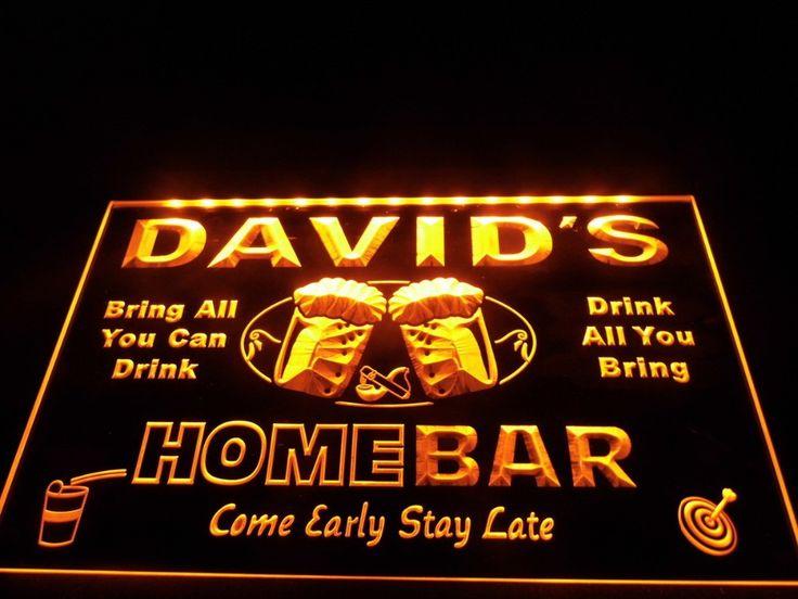 Custom LED Signs - Home Bar - Large   Neon bar signs, Led