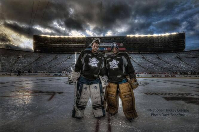 Reimer & Bernier at the Winter Classic. Photo by Dave Sandford.