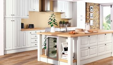 Bella Super White Kitchen - By BA Components. Trade and replacement kitchen door manufacturers