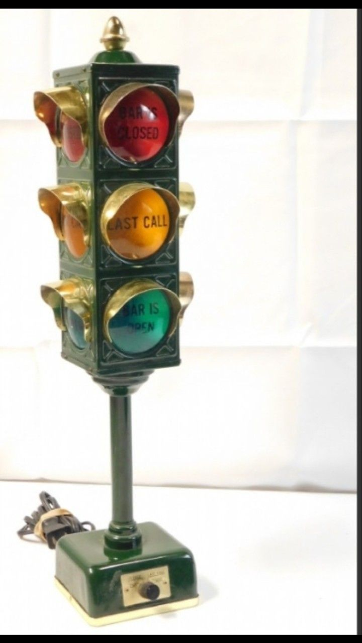 B B Stop Light Bar Lamp Vintage 1960s 199 99 Free Shipping Collector Must For Home Or At The Bar In 2020 Lamp Bar Lighting Novelty Lamp