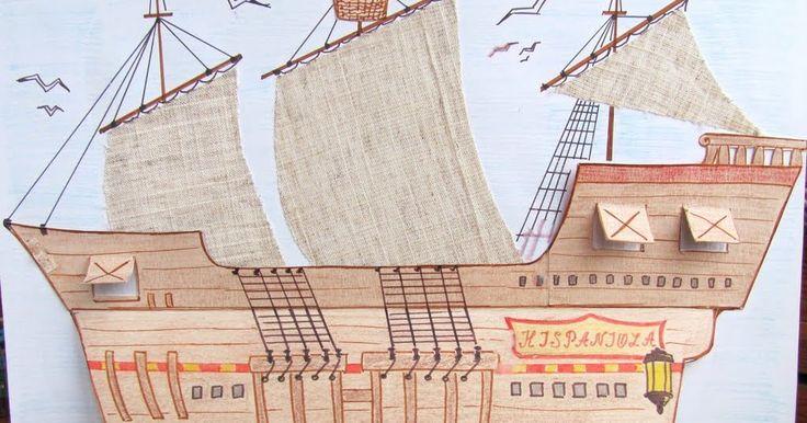 """Кроме большого корабля из картонных коробок , в котором можно """"плавать"""" по-настоящему, у нас есть еще и пиратский корабль (картинка-игрушк..."""