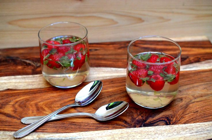 Adult Jell-o, yes it exists. Raspberry and Mint Wine Geleé.