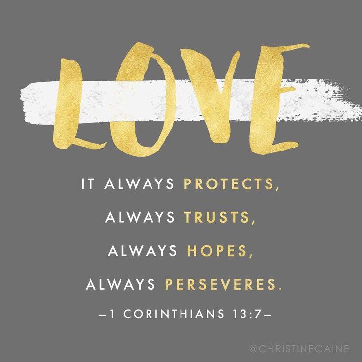 Love always protects, always trusts, always hopes, always perseveres. – 1 Corinthians 13:7   TonyEvans.org