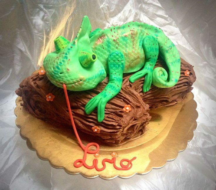 chameleon cake for my little man ❤️