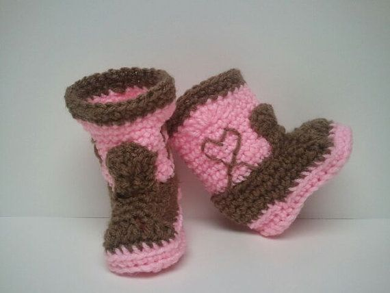 Pink Cowgirl Boots Pink Cowboy boots Cowboy baby by Dremnstar, $18.50