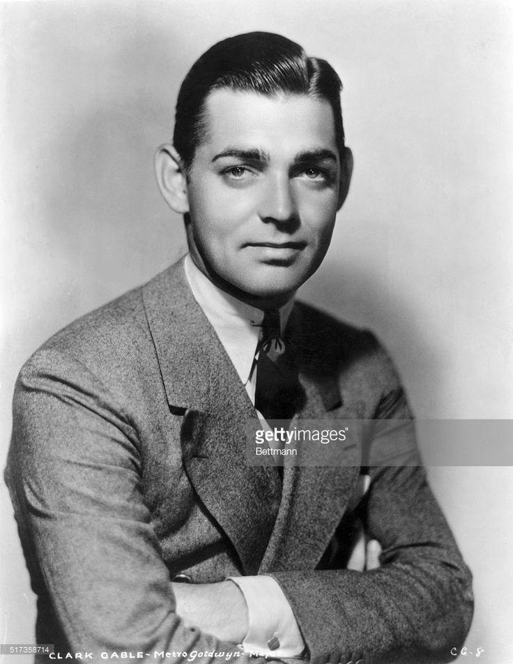 News Photo : Publicity handout of a young Clark Gable,...